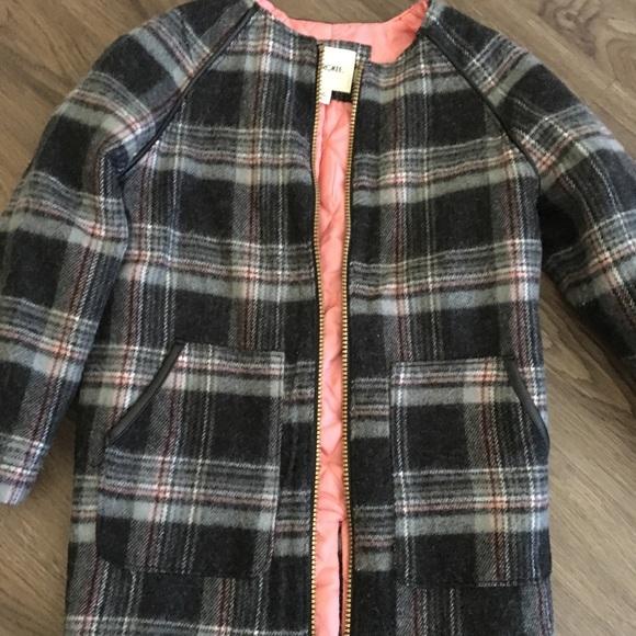 Cherokee Toddler Girls Dress Casual Winter Jacket Pea Coat Black Plaid NWT Cute!